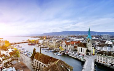 Aerial View of Zurich Cityscape, Switzerland