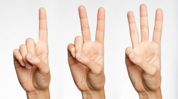 One, Two, Three – Counting with Fingers (XXXL)